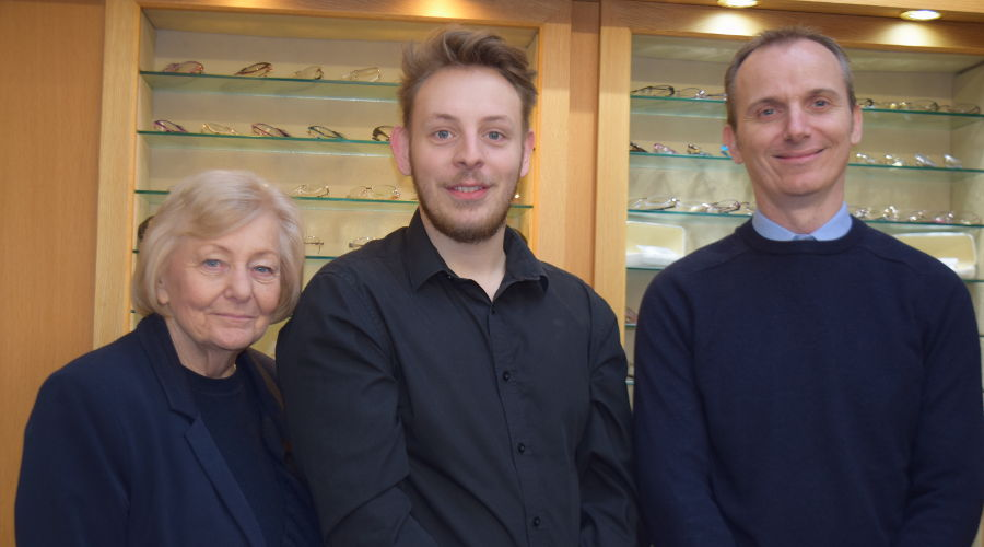 Staff at Walford and Round Opticians in Stratford upon Avon